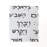 מחברת בראשית – עברית – מבט פרונטלי