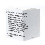 מחברת PAPER גדולה, לבנה – פתוחה פרונטלי