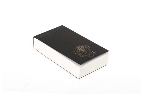 Anatomy heart notepad with black cover