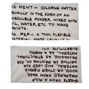 קלמר קנבס Handwriting   פיגמנט   אותיות קטנות   בצבע לבן