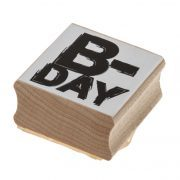 חותמת עץ וגומי B-day