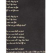 מחברת FOIL שחור עם שיר בפויל זהב