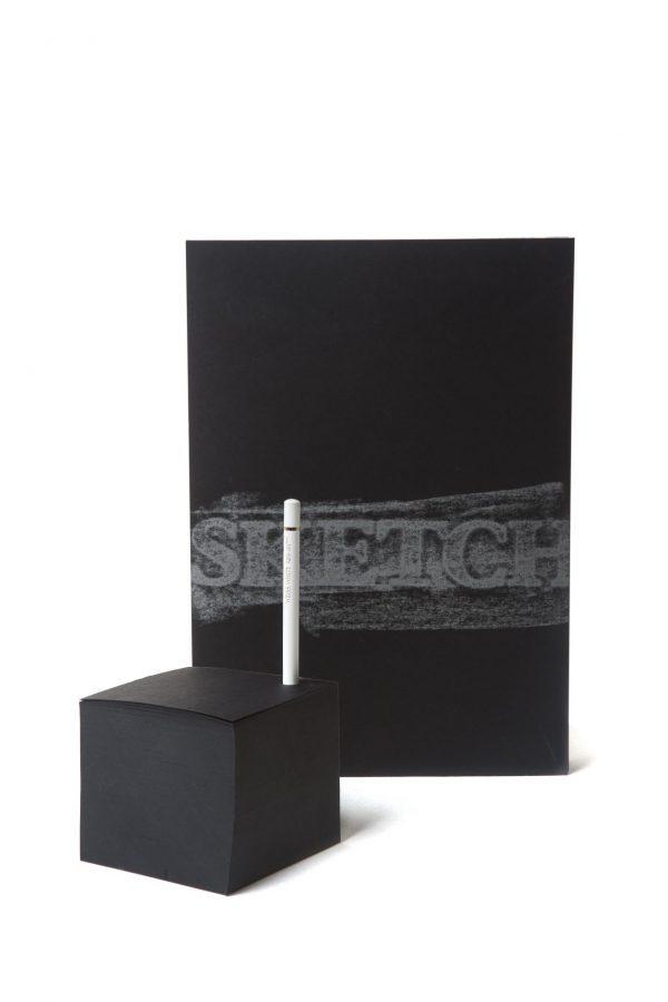 מחברת וממו בלוק sketch בצבע שחור