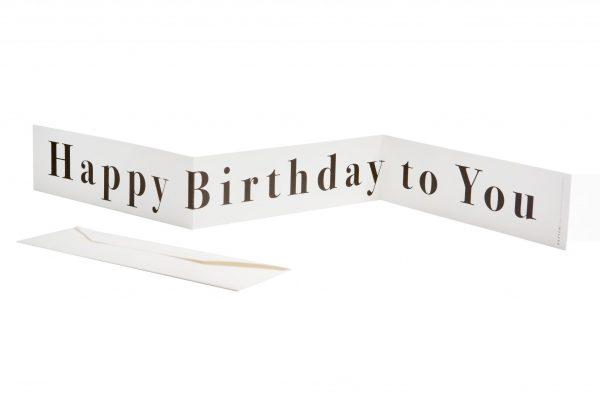 כרטיס ברכה אקורדיון Happy Birthday to You