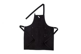 black plain apron